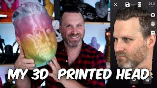 My Life Size 3D Printed Head | Scandy Pro iPhone X 3D Scan Followup
