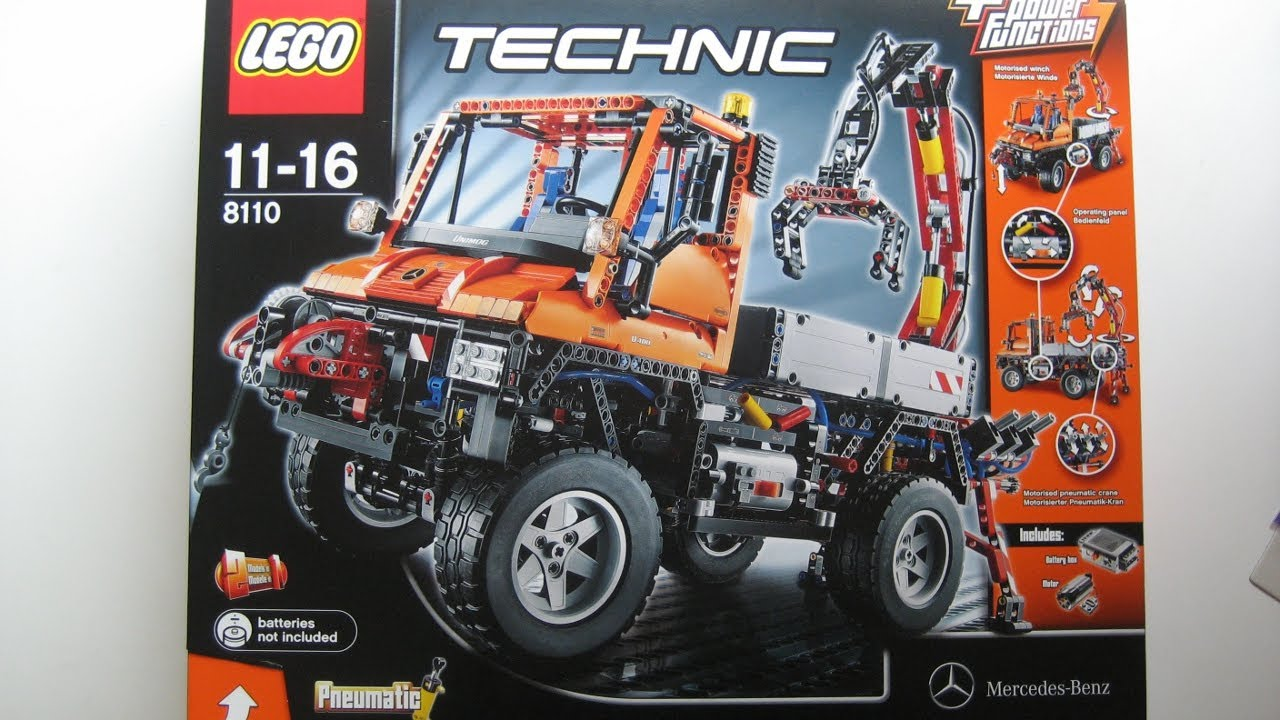 m4x 39 s creations unboxing lego technic 8110 mercedes benz unimog u400 youtube. Black Bedroom Furniture Sets. Home Design Ideas