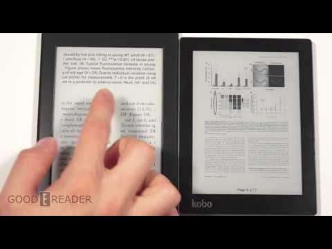 Amazon Kindle Paperwhite 2 vs Kobo Aura Comparison
