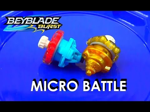 Beyblade Burst by Hasbro Micros - Xcalius vs Amaterios Review Battle