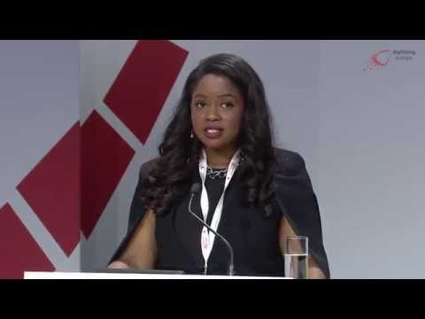 "Dupsy Abiola (Intern Avenue) at the ""digitising europe"" summit in Berlin"