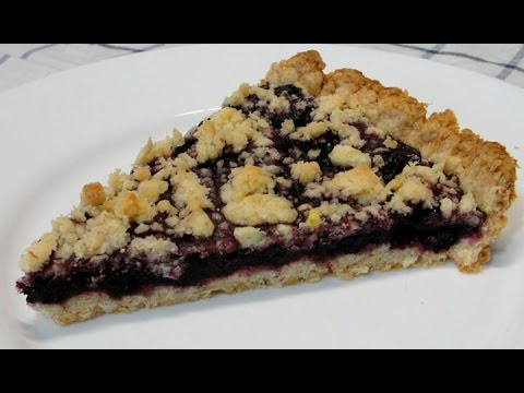 Рассыпчатый постный пирог с ягодами (повидлом)