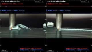 ハイスピードカメラ+データロガー 「塗布不良の解析」