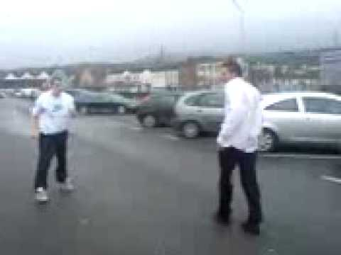 Polish guy in White shirt (lysy) Irish guy just start fight for nothing...