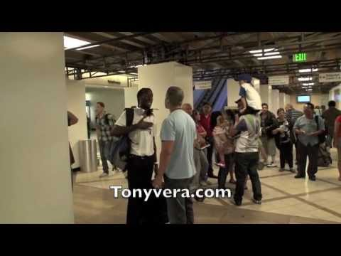 man goes off big time on undercover officers and TSA agents at LAX