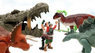 Dinosaur Hunter In Giant Crocodile Mouth! Dinosaur Fun Movie For Kids - Dinosaur Eggs Jurassic World