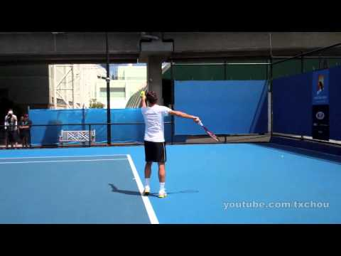 Roger Federer - Slow Motion Serves in High Definition