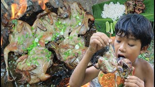Primitive Technology - Cooking wild birds on a rock
