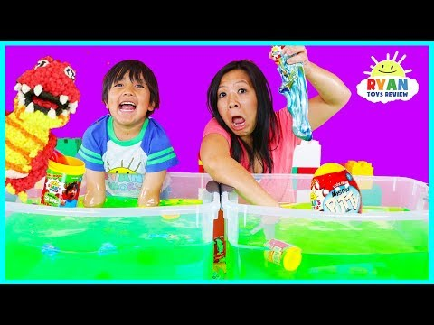 Ryan's World Slime Baff Surprise Toys Challenge game | Mystery Slime , Mystery Putty, Molekule!!!