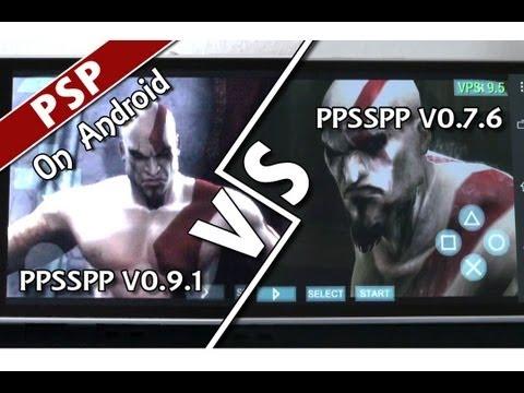 ... Of Sparta (TAKE 2 - PPSSPP v0.9.1 vs v0.7.6) PSP Emulator on Android