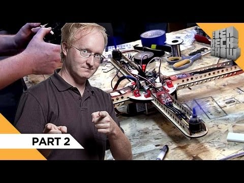 Ben is determined to get his quadcopter project off the ground. Watch as he finalizes the electronics and completes his flying machine. Subscribe for more pr...