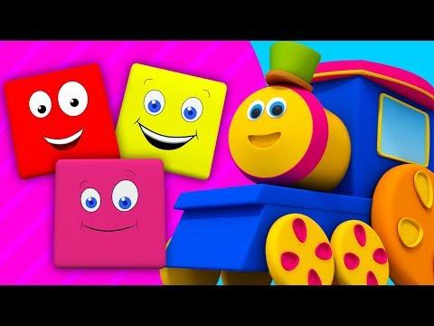 Bob il treno   cavalcata di colori   educativo canzone   filastrocche   Bob Train Colors Ride
