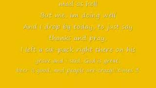Billy Currington- Lyrics People are Crazy!