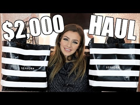 HUGE SEPHORA HAUL   New Makeup January 2018   Jazzi Filipek