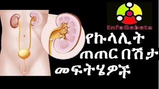 የኩላሊት ጠጠር በሽታ መፍትሄዎች HOME MADE SOLUTIONS TO TAKE CARE OF KIDNEY INFECTIONS