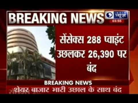 Sensex at the top,reaches at 26950