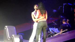 USHER Birmingham NIA OMG Tour 27 Jan 2011 Trading Places Girl from Audience