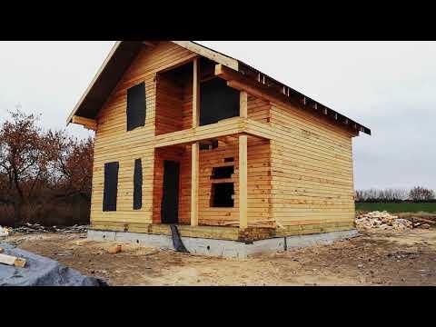 Завершенный проект дома из бруса 8х8м