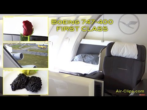 Lufthansa Boeing 747-400 First Class: WORLD'S BEST Vancouver-Frankfurt [AirClips full flight series]
