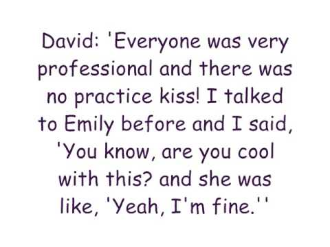 David Henrie AND Emily Osment KISS