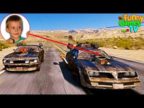 Играем в машинки с Кириллом крутые гонки Gas Guzzlers Extreme