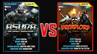 REAL STEEL WRB ASURA VS DREADLORD New Robots CHRISTMAS UPDATE (Живая Сталь)