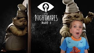 Eating Rats for Dinner! Little Nightmares Part 3 Twin Toys Kids Jumpscare