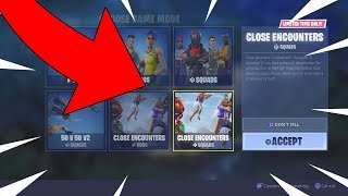 NEW CLOSE ENCOUNTERS GAMEMODE GAMEPLAY! FORTNITE BATTLE ROYALE JETPACKS AND SKYBASES!