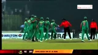 Winning moment of Bangladesh BAN vs NZ  2nd ODI