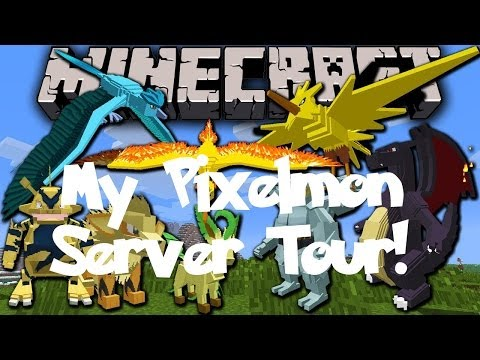 Minecraft|My Pixelmon Server Come Play|Server Tour|Website/Twitch Tour!