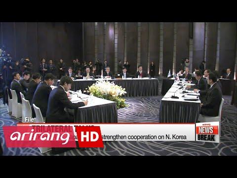 S. Korea, U.S., Japan vow to strengthen cooperation on N. Korea