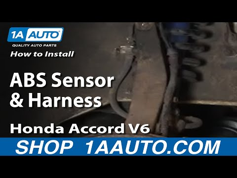 How To Install Replace ABS Sensor and Harness Honda Accord Odyssey Acura CL 1AAu