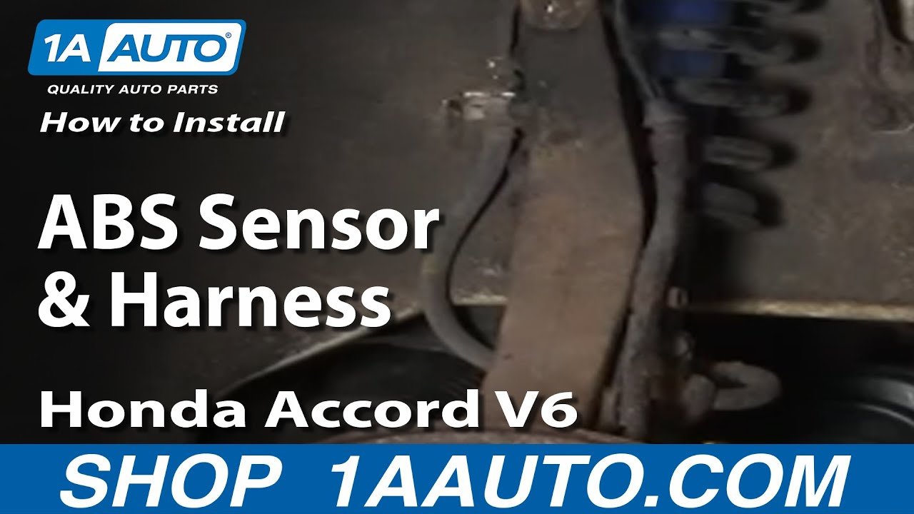 how to install replace abs sensor and harness honda accord