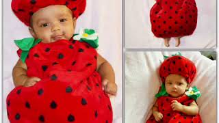 DIY Monthly Baby Photo ideas|baby photoshoot at home|halloween costume