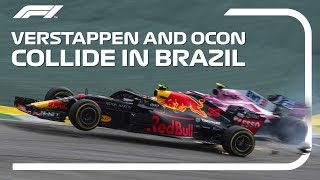 Verstappen And Ocon Collide | 2018 Brazilian Grand Prix