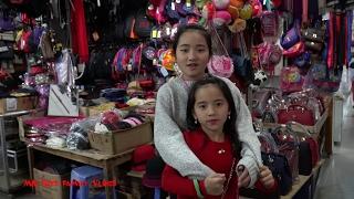Hồng Anh và Thùy Giang Đi Chợ Nghệ Mua Túi Xách Elsa và Anna