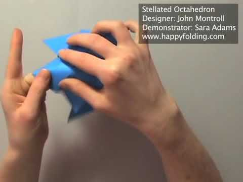 Origami Instructions: Stellated Octahedron (John Montroll)