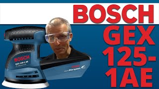 Demo and Features - Bosch GEX125-1AE Random Orbit Palm Sander