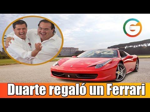 Javier Duarte regaló un Ferrari a Peña Nieto, señala periodista