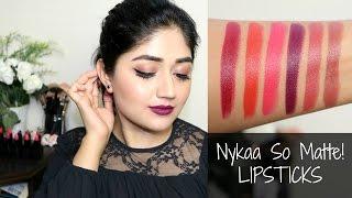 Nykaa Matte Lipsticks : Swatches, Review | corallista