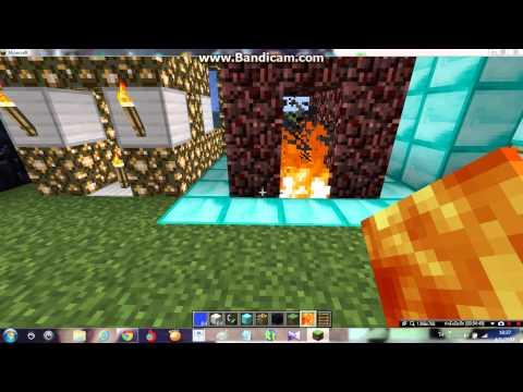 minecraft วิธีทำประตูน้ำ&ประตูลาวา