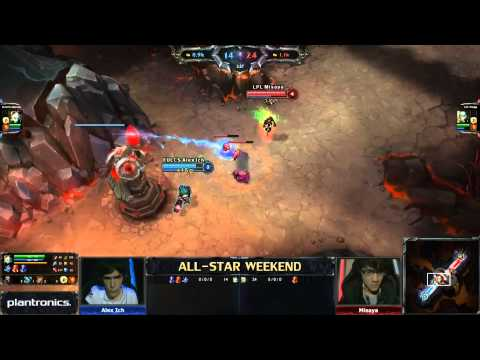 2013 ALL-STAR LoL 1v1 Mid lane (Alex Ich) vs (Misaya) game 2