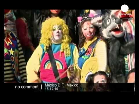 Clown parade in Mexico City - no comment