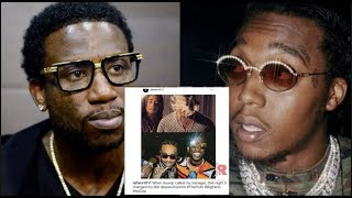 Gucci Mane Gets Petty With Takeoff For Calling Him CAP, Posts Pic Showing How Helped Quavo & Migos