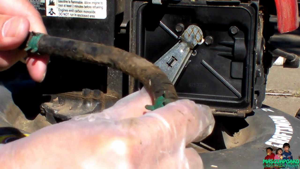 Replacing A Lawnmower Fuel Line Youtube