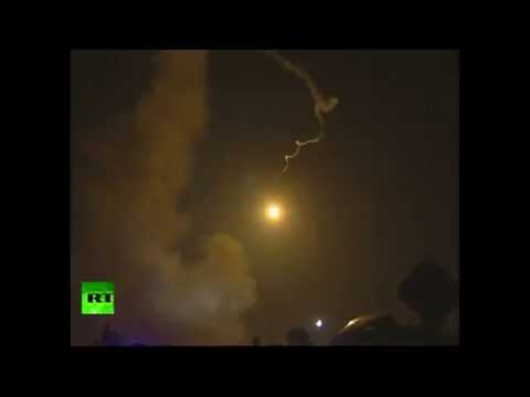 RAW: Iron Dome intercepts rocket over Israeli wedding