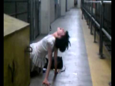 Possessed Girl Found In Subway video