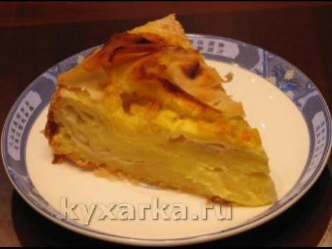 Быстрый творожный пирог из лаваша