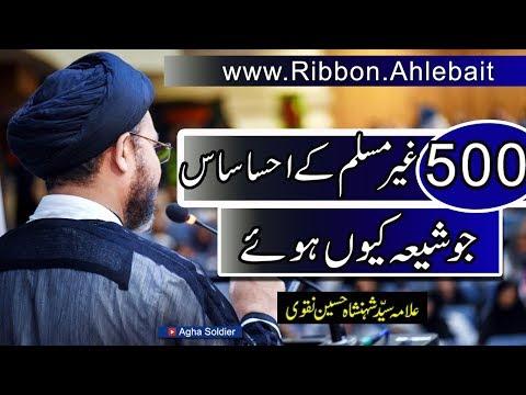 500غیرمسلم کے احساساس  جو شیعہ کیوں ہوئے|علامہ سیّد شہنشاہ حسین نقوی