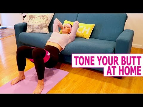 How to Build Your Booty At Home | 10 Minute Resistance Band Workout thumbnail